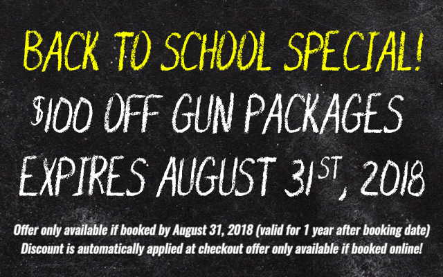 Bullets and Burgers Back to School Special - expires Aug 31st