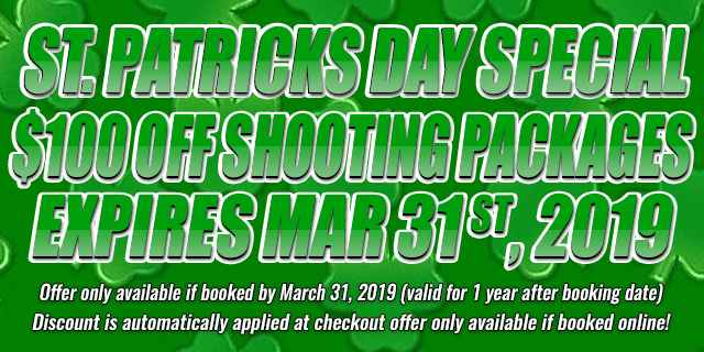 St. Patricks Day Special $100 OFF shooting Packages • expires mar 31th, 2019
