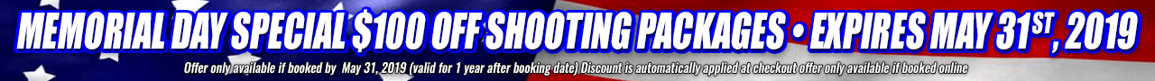Memorial Day Special $100 OFF shooting Packages • expires MAY 31 st, 2019