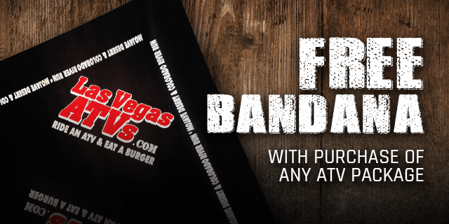Free Bandana with Purchase of any ATV Package