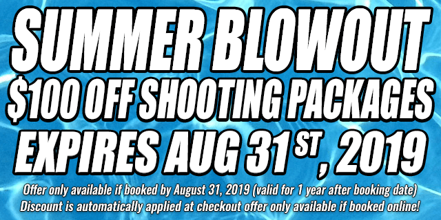 summer blowout $100 OFF shooting Packages • expires aug 31 st, 2019