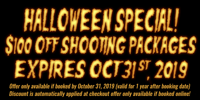 halloween special $100 OFF shooting Packages - expires oct 31 st, 2019