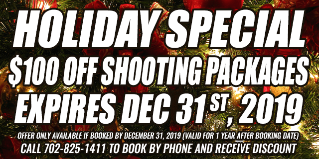 holiday Special $100 OFF shooting Packages • expires dec 31 st, 2019