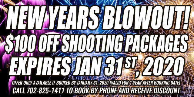 NEW YEARS BLOWOUT! $100 OFF shooting Packages • expires jan 31 st, 2020